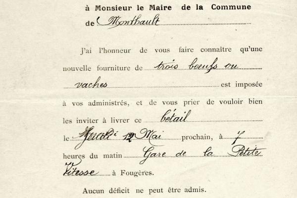(Archives communales de Monthault )